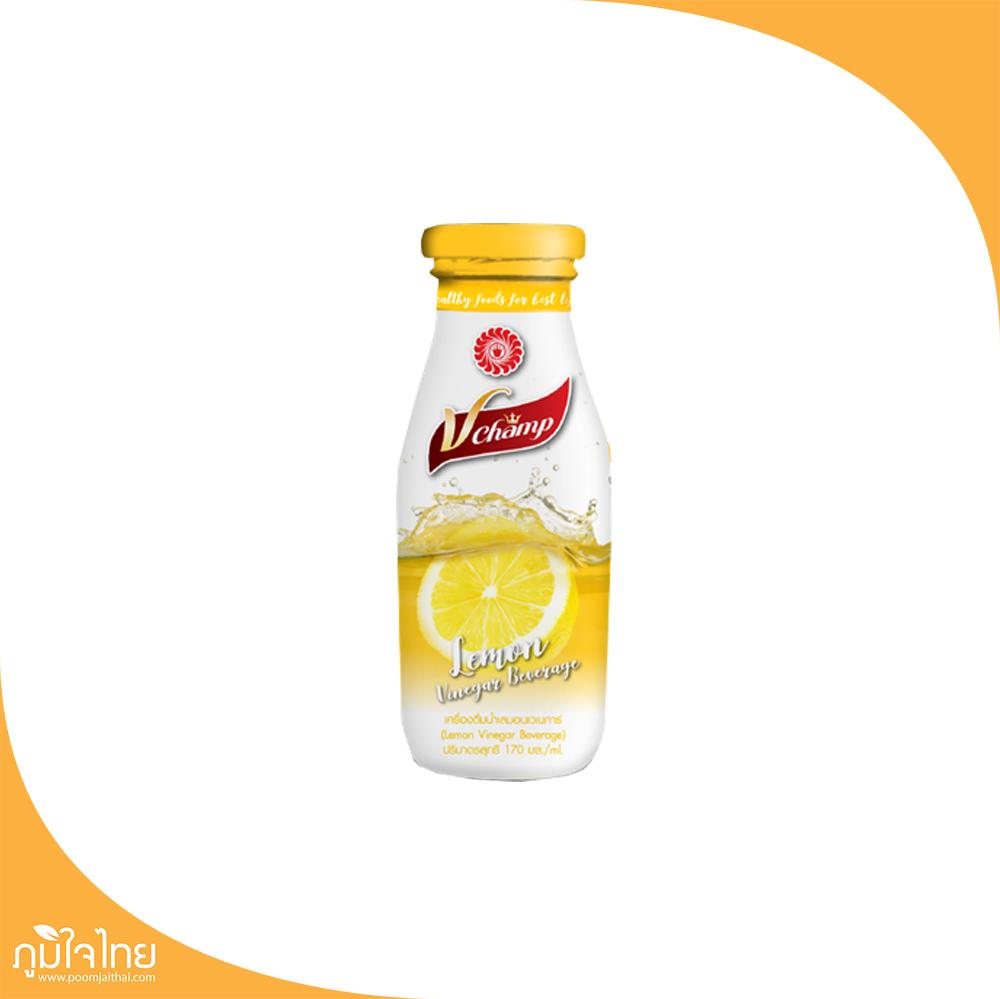 เครื่องดื่มน้ำส้มสายชูหมักเลมอน 170มล. วีแชมป์