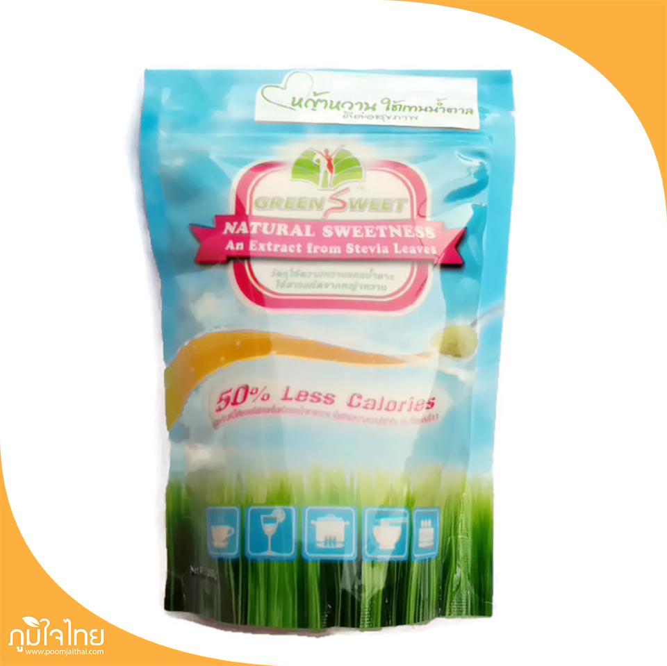 น้ำตาลหญ้าหวาน 280กรัม กรีนสวีท (สินค้าเจ)