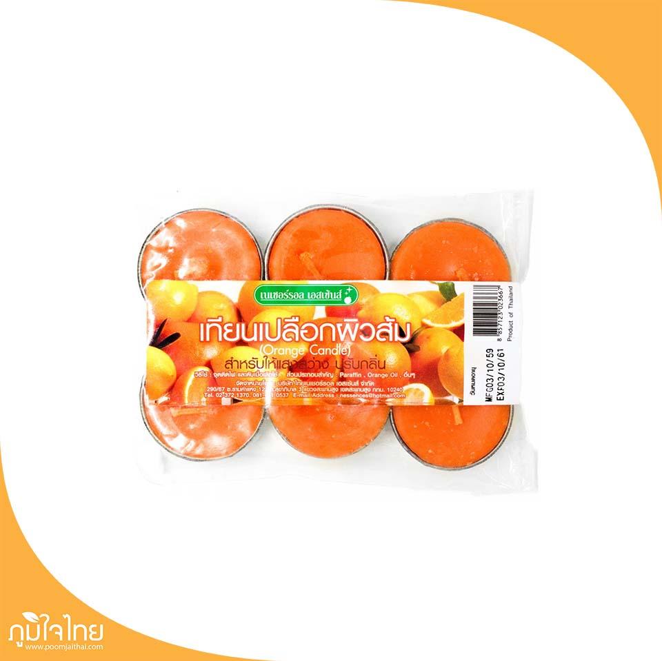 เทียนเปลือกผิวส้ม (1แพ็ค6ชิ้น) เอสเซ้นส์